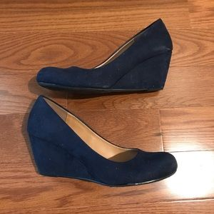 Chinese Laundry Wedge Pumps, Navy, Sz 9M